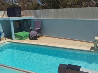 3 bedroom house with private pool.