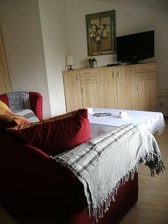 Couch und Fernseh Ecke