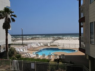 Southern Sands 103 ~ Beach View, Renovated, Private Balcony, Pool, Walk to town