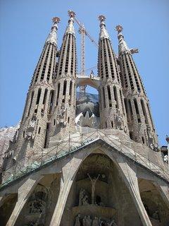 The towers of Sagrada Familia