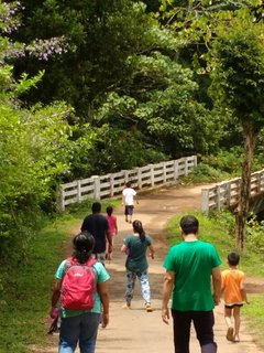 The Family trek to the waterfall