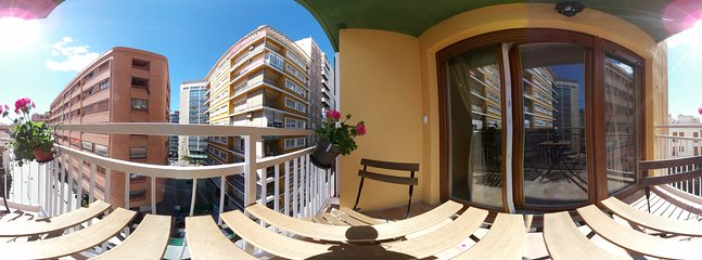Views from the balcony of the apartment.