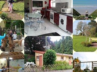Les Tourterelles, Domaine le Soleil Couchant, mini ferme, parc de jeux, velos
