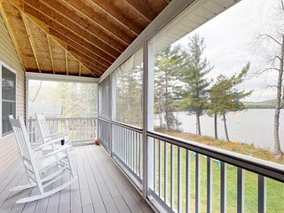 NEW LISTING! Lakefront home w/ dock & screened porch w/lovely views - dogs OK!