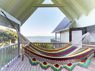 NEW LISTING! Beachfront resort villa w/deck, hammock, shared kayaks & sea views