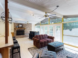 Family-friendly retreat with sweeping lake views, firepit, and plenty of room