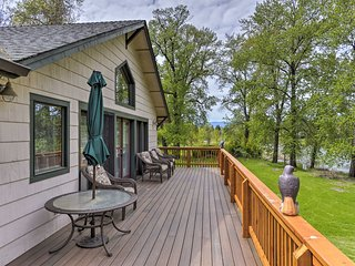 NEW! Riverfront Grants Pass Home w/Wraparound Deck