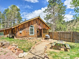 Rustic Log Cabin w/ Studio ~5 Mi to Pikes Peak!