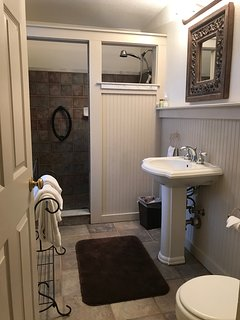 First floor full bathroom with walk in shower