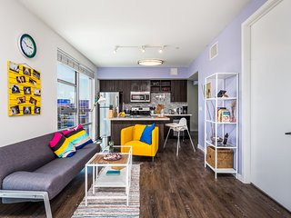 East West Comfort: Downtown LA Colorful Apartment