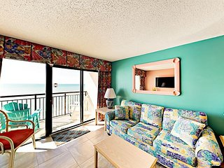 2BR Oceanfront Condo at Beach Cove Resort - Indoor/Outdoor Pools