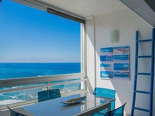 splendide appartement en bord de mer sur la plage face a l'ocean