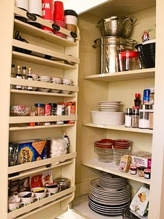 Pantry fully stocked