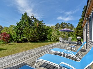#405: Bask in the sun on a huge wrap-around deck in our updated home in Eastham.
