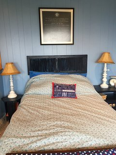 Full bed in guest cottage