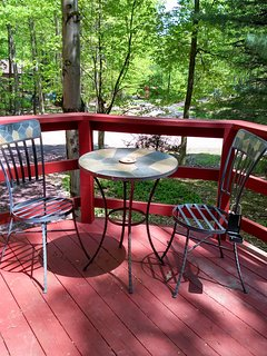 Small Bistro set on the front deck