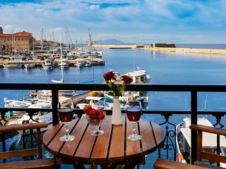 Amazing seafront view apartment in Chania. 2 bedrooms,1 bathroom