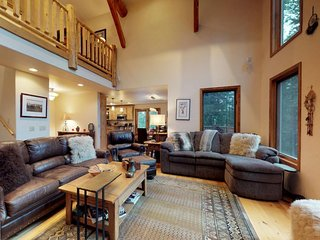 Spacious upscale ski in/out family home w/ private hot tub & exceptional views!