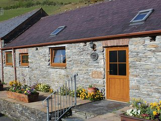 Byre Cottage on the edge of the Cambrian Mountains near Devil's Bridge Mid Wales