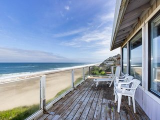 Dog-friendly house w/ fantastic oceanfront location, steps to the beach