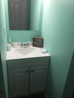 Fully remodeled bathroom.