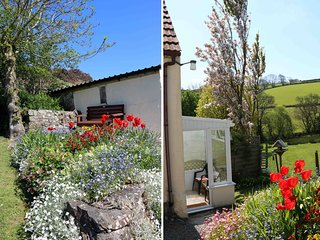 THE COTTAGE, pet friendly, country holiday cottage, with a garden in Parkham, Re