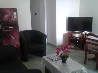 Fully furnished, two bedrooms with ac,inernet, car park, 24 hours security.