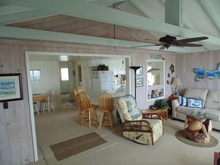 View of living & dinning room