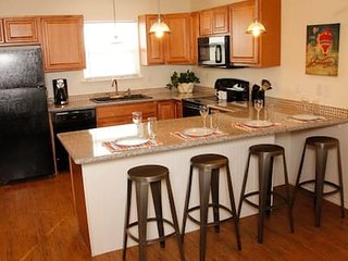 Beautiful fully equipped kitchen with granite counter tops.