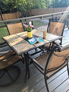Rear deck, back yard