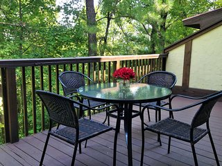 Relax on a Spacious Deck and Enjoy the View of Surrounding Mountains