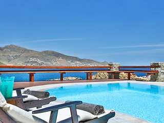 Villa Fedra, luxury beachfront villa with panoramic view