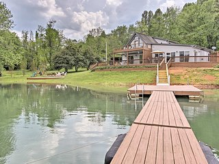 Hiawassee Home w/Boat Slip & Dock on Lake Chatuge!
