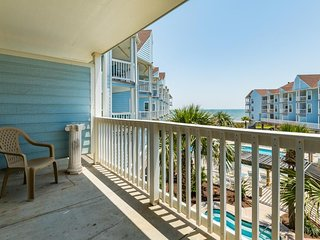 Oceanfront condo with sea views, shared pool, near beaches and more