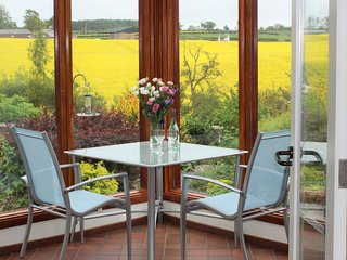 Dine in your southfacing conservatory Admire the rural view. Watch the wonderful birds on our feeder