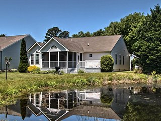 NEW! Ocean View House w/ Screened Porch & Deck!