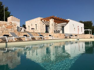 Experience the luxury within Trullo Falco, Egyptian cotton bed linen throughout.
