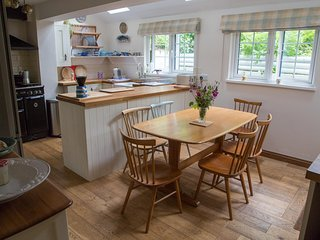 Bright family sized kitchen with plenty of space to cook and eat