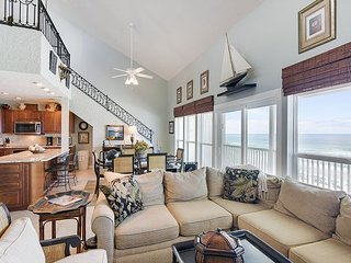 L Shaped Couch overlooking the Gulf