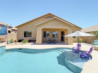 NEW LISTING! Modern home in a gated community w/private pool/hot tub - near golf