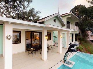 NEW LISTING! Modern oceanfront villa w/ocean views, pool & private beach access