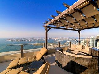 Dubai Jumeira beach walk amazing penthouse sulla promenade di Dubai marina