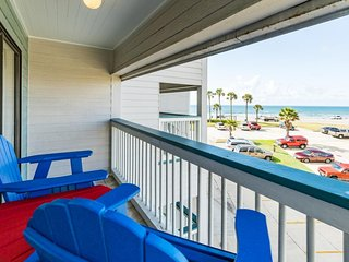 Ocean-view condo with shared pool near fishing, Seawall, beach, and more