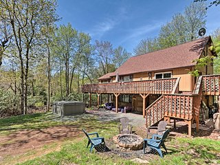 NEW! Lake Harmony Home w/ Deck, Hot Tub & BBQ!