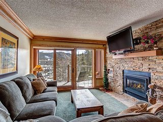 Stunning views - 2 bd condo 20 yards from ski run and 2 minute walk to Main St!