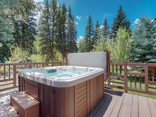 NEW LISTING! Relaxing riverfront retreat w/hot tub, tennis & fitness center