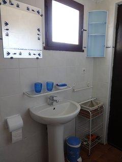 salle d'eau lavabo rangements fenêtre