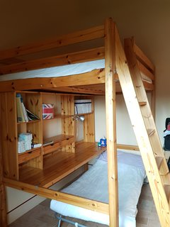 First floor. Room with a bunk bed.