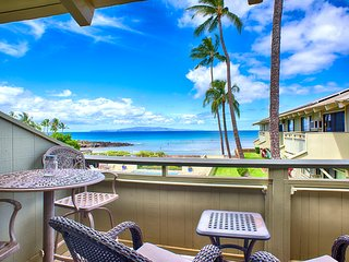 Exceptional Ocean View; Great Kihei Location; Walk To Beach & Restaurants!