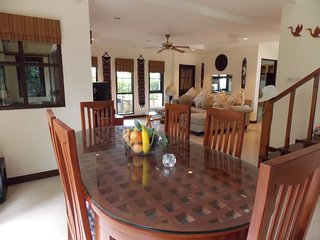 Lek's comfortable 3 bedroom A/C Villa with great community pool.